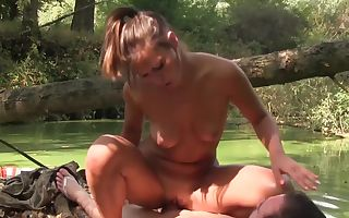 Jungle pound with a young temptress that loves to ride cock