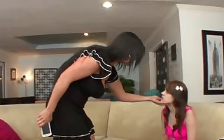 lonely stepmom pussylicked by teen daughter