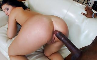 Litlle Madelyn takes her first fat black dick