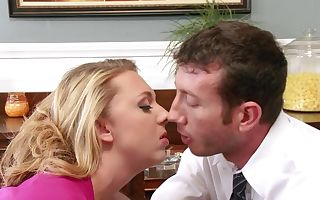 Busty blonde whore gets nailed so well by her handsome teacher