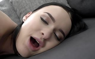 Teen Russian chick Sasha Sparrow makes enjoy to old guy Albert